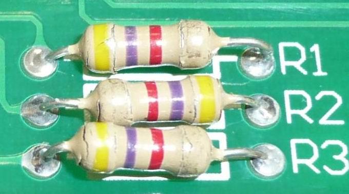 Состояние резисторов в цепи