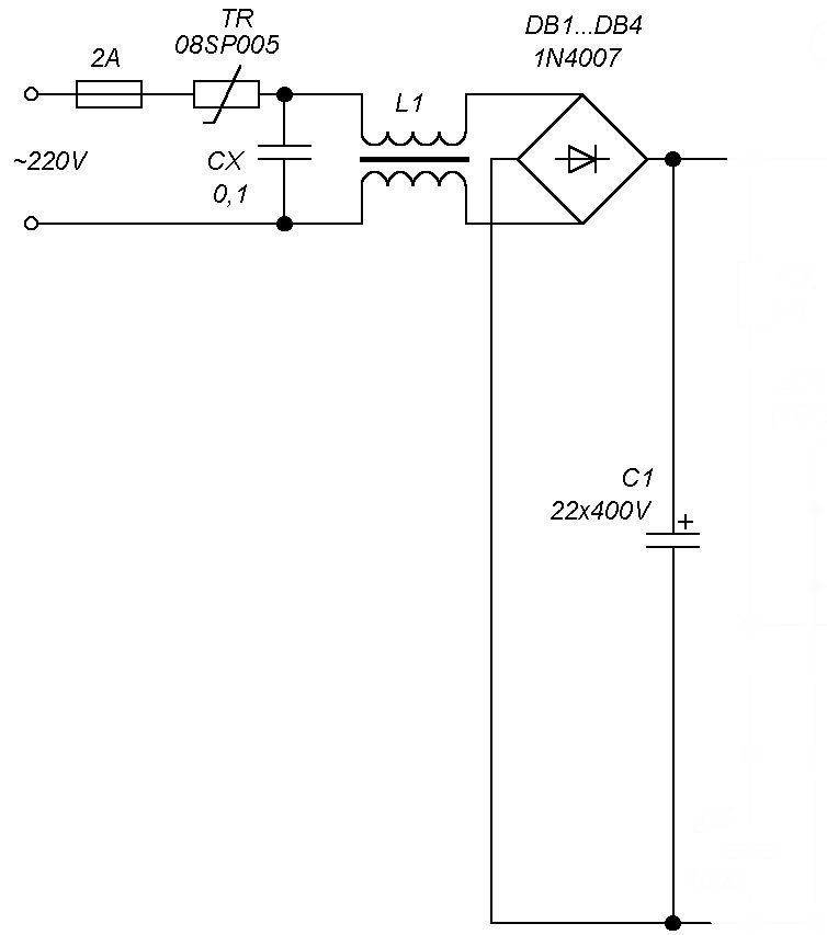 схема блока питания d-link des-1016d