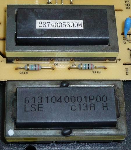 Замена ВЧ трансформатора 6131040001P00LS на 2874005300M