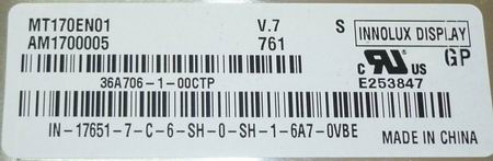 Матрица MT170EN01 для монитора Samsung 720N (точнее модель 720N [R] X)