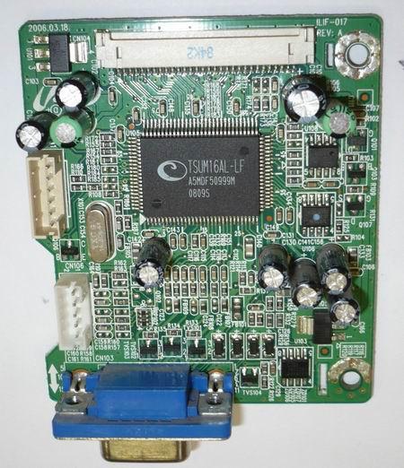 Скалер ILIF-017 REV:A применяется в мониторах Samsung 720N, LG1817S