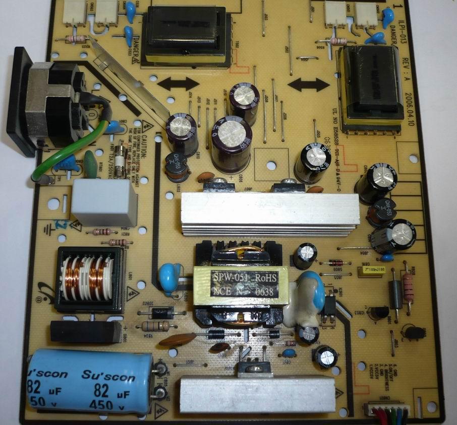 Samsung 720N блок питания совмещенный с инвертором ILPI-013 REV: A