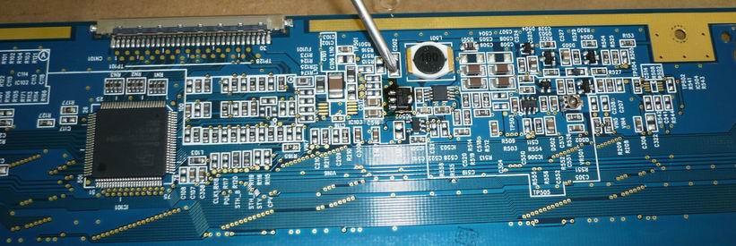 ЖК панель MT170EN01 с замененным стабилизатором 3,3В IC502 (76381)