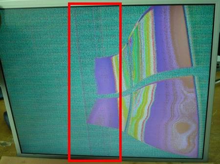 Неправильно установленный LVDS шлейф, создает впечатление о неисправности ЖК панели.