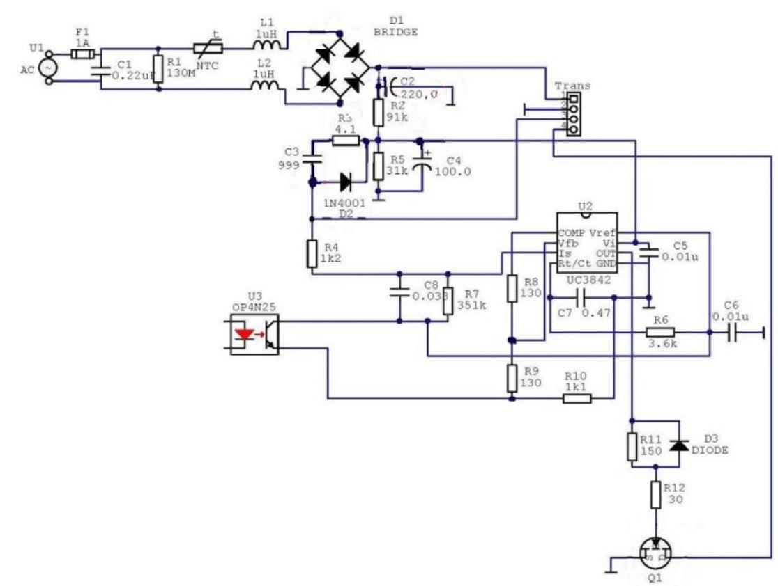 схема адаптера меркурий 220