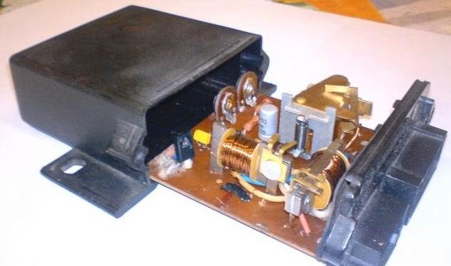 Внешний вид реле РР 950, электронику с передней панелью убираем за ненадобностью.