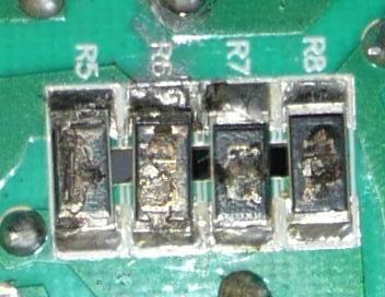 Вышедший из строя токовый датчик, говорит о значительном протекавшем токе.